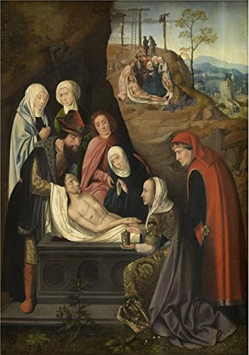 'Meester Van Hoogstraeten,The Burial,16th Century' Oil Painting, 8x11 Inch / 20x29 Cm ,printed On Perfect Effect Canvas ,this High Resolution Art Decorative Canvas Prints Is Perfectly Suitalbe For Foyer Decor And Home Artwork And Gifts