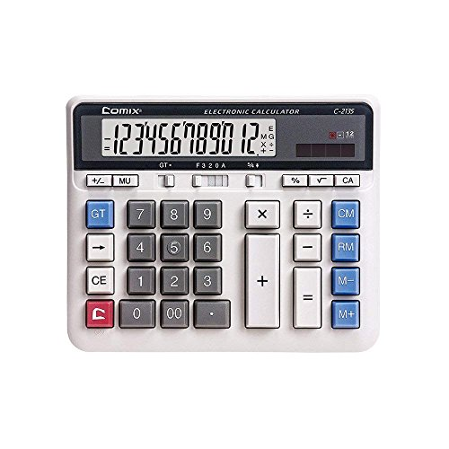 Comix C-2135 Large Computer Keys Calculator 12 Digit - Export Chinese Old