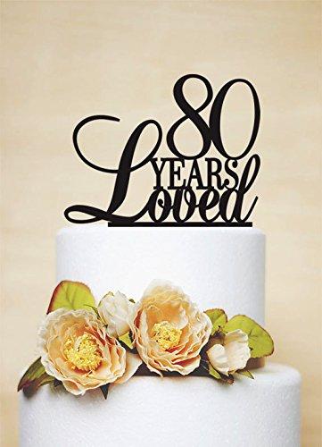 Decoración personalizada para tartas de 80 aniversario ...