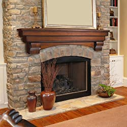 "Pearl Mantels 495-72 Auburn Natural Unfinished 72"" Mantel Shelf"