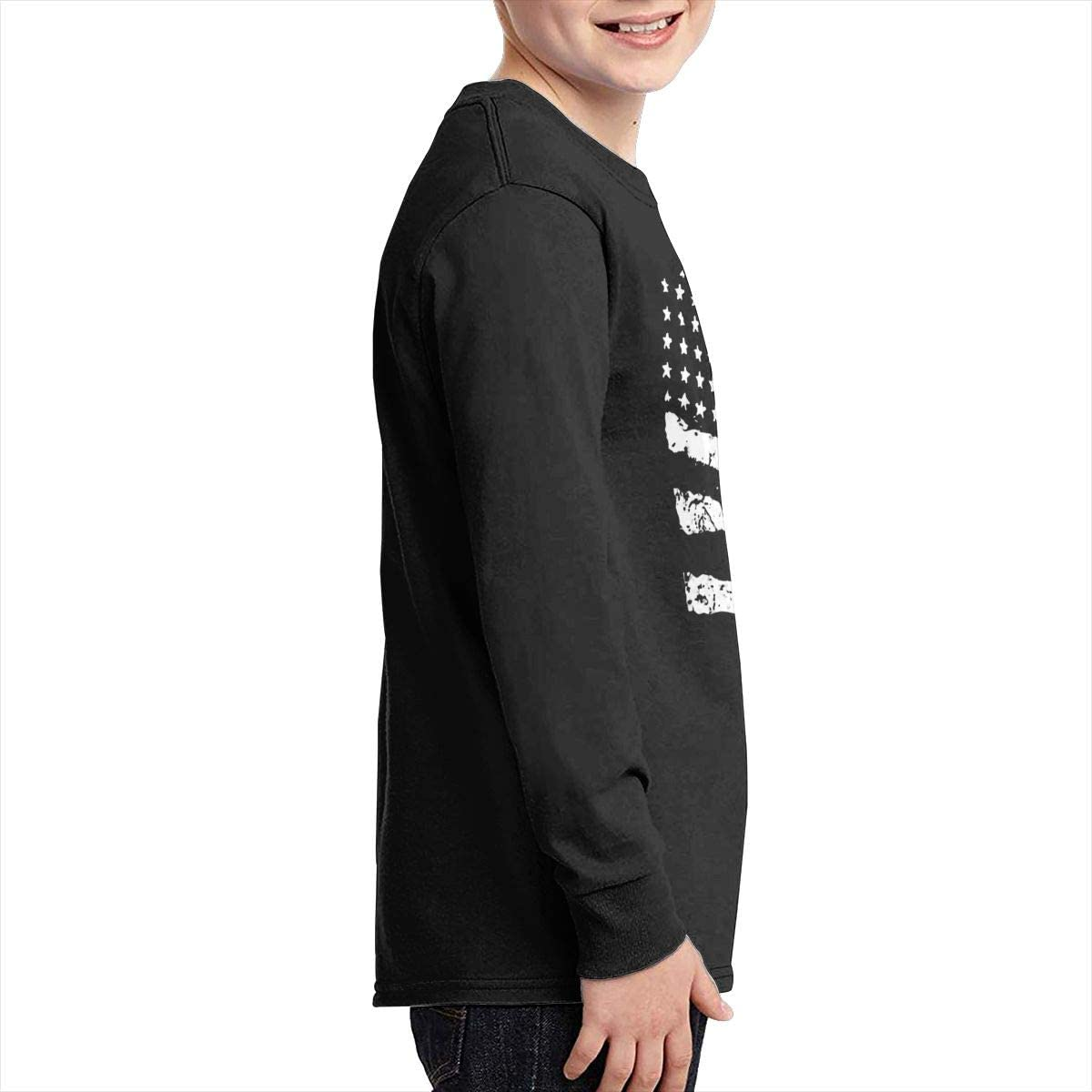Youth Martin Luther King Sports Boy Or Girl Long Sleeve Shirt-Moisture Absorbing and Perspiration Black
