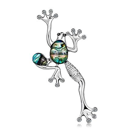 82d9dc18e1 Yuan Yuan Spille - Serie Animali creativi, Spilla a Forma di Conchiglia  Rana Verde,