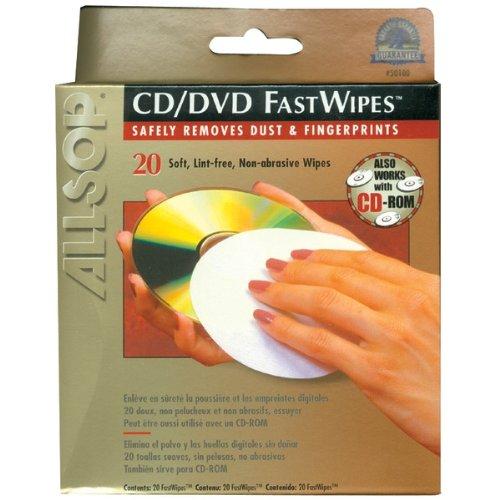 ALLSOP 50100 CD FastWipes™, 20 pk