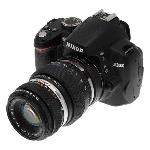 darse 35 mm Olympus Zuiko a Nikon Adaptador de c/ámara de Adaptador de Montura de Lente Fotodiox Pro Ver Compatible Lente Embalaje OM-Nikon Pro