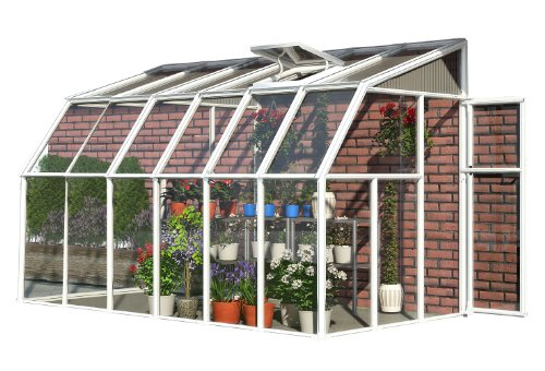 Glass Greenhouse Kit - Rion Sun Room 2 Greenhouse, 6' x 12'