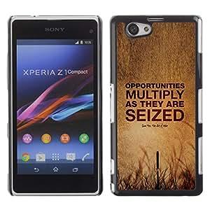 No dejes de Oportunidades de Verano de la cita profunda- Metal de aluminio y de plástico duro Caja del teléfono - Negro - Sony Xperia Z1 Compact / Z1 Mini (Not Z1)