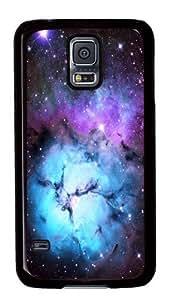 Blue Floral Nebula Custom Samsung Galaxy S5/Samsung S5 Case Cover Polycarbonate Black