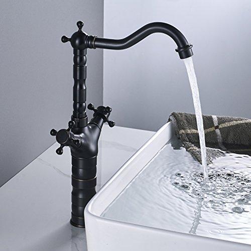 Rozin Single Hole Taller Countertop Faucet Two Handles Bathroom Vessel Sink Mixer Tap Oil Rubbed Bronze