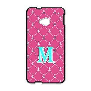 ALLCASE Anchor Reticular Monogrammed Personalized Defender Phone Case for HTC One M8(Black)
