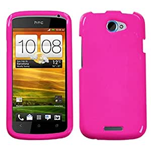 Asmyna HTCONESHPCSO059NP Premium Durable Protective Case for HTC One S, 1-Pack, Retail Packaging, Shocking Pink