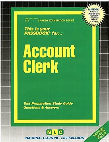 account clerk passbooks career examination series c 2 jack rh amazon com Accounting Accounts List Accounting Basics