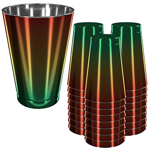 - Disposable Plastic Party Cups - 50 Count, 10oz - Fun Colorful Rainbow Design - Heavy Duty Glasses for Parties and Events - Durable and Reusable - By Prestee