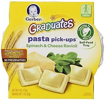 Pasta pick-ups Ravioli, espinaca y queso, 6 oz Bandejas, 8 Conde