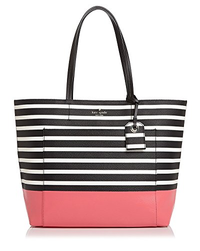 Kate Spade New York Riley Striped Large Tote (Peach Sherbet)