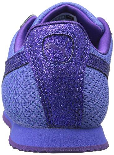 8b3622fda2f PUMA Girls  Roma Glitz Glamm Mesh Sneaker