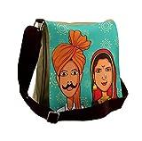 Lunarable Wedding Messenger Bag, Maharashtra Region Festive, Unisex Cross-body