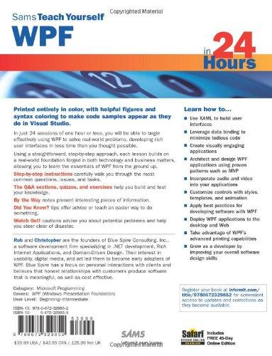 Amazon fr - Sams Teach Yourself WPF in 24 Hours - Rob