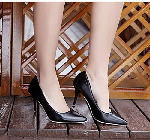 Aisun Donna Semplice Alla Moda Abito Stiletto Tacchi Alti Pompe Scarpe Nere