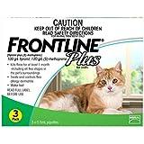 Frontline Plus Flea Treatment Pipettes for Cat 6 Pieces, 6 Count, Green