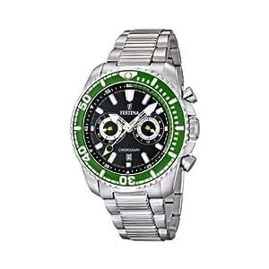 Festina F16564/6 - Reloj para hombres, correa de acero inoxidable color plateado