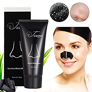 Blackhead Remover Mask (Removes Blackhead), Tezoo Black Peel off Charcoal Mask Facial Mask for Face Nose Acne Treatment Oil Control , 60 gram