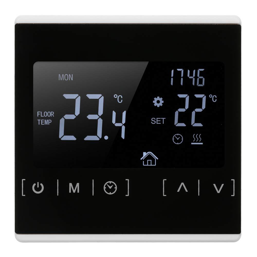 Suelo Radiante Electrico con Termostato Control Horario Temperatura y Agua,termostatos Digitales para Suelo Radiante de Pared Calefaccion Programable ...