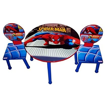 Astounding Marvel The Amazing Spider Man Table And 2 Chairs Furniture Set Andrewgaddart Wooden Chair Designs For Living Room Andrewgaddartcom