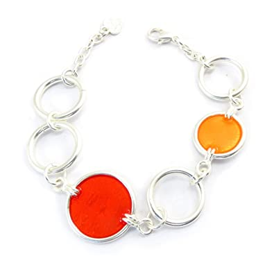 French Touch Bracelet Coloriage Red Orange Amazon Co Uk Jewellery