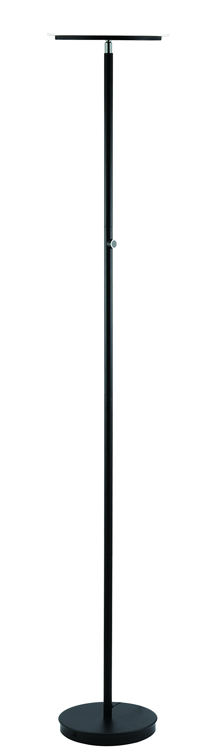 "Major-Q 3035F-BK LED Torchiere Floor Lamp Efficient Energy Saving 4-Level-Touch Dimmable Ultra Bright Lumens Light, 70"" Adjustable Head for Bedroom Living Room - EXCELLENT SOURCE OF LIGHT THAT OUTPERFORMS: High Lumens that exceeds 2400, performing better and smarter than other similar lamps, perfect for any room or space and is sturdy and stable due to its solid custom weighted base, making it safer than others for knock-free incidents. This beautiful floor lamp is made to give a statement of style and new modern ideas for making your home sharper in detail and brighter. CONTINUOUS EFFORTLESS CONTROL: Deciding the level of brightness is effortless, adjusting the lamp is just a simple touch that adjusts as you desire, you will be pleased on how well and simple the switch is to use. Sensitive enough for you to gracefully operate. PIVOT HEAD SHADE DESIGN: Flexible rotating head shade allows the movement of how you want the light to be projected. Tilt it for when you need with smooth motion adjustments. Never be stuck to only one adjustment anymore! - living-room-decor, living-room, floor-lamps - 51XMxzsxfeL -"