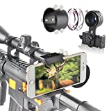 Landove Rifle Scope Smartphone Mounting System Smart Shoot Scope Mount Adapter for Gun Scope Airgun Scope Display Record The Hunt Via The Phone - Advanced Glass Magnification System Adapter