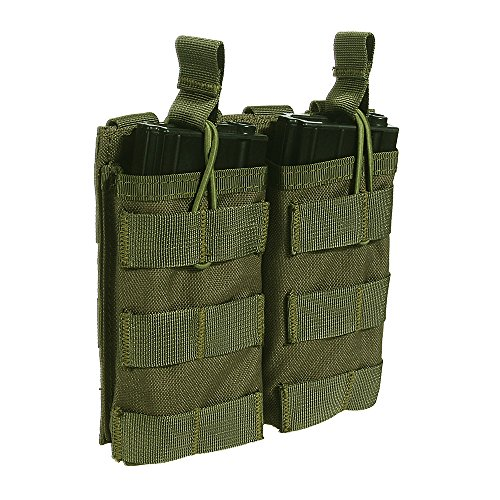Loglife Tactical Magazine Pouch Holds Holster Double Pistol Mag Pouch Stacker M4/M16 (System M4 Double Mag Pouch)