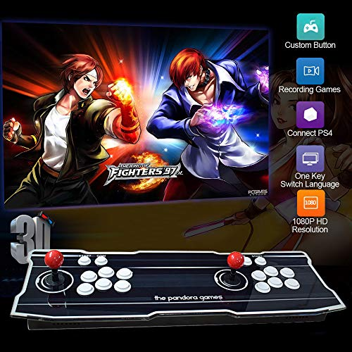 PinPle Arcade Game Console 1080P 3D & 2D Games 2020 in 1 Pandora's Box 3D 2 Players Arcade Machine with Arcade Joystick Support Expand 6000+ Games for PC / Laptop / TV / PS4 (Dark Blue)