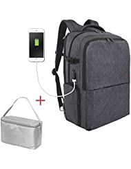 Travel Picnic Backpack for Men Women Waterproof 17 inch Laptop Backpack with USB Charging Port Independent Compartment...
