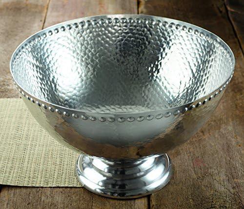 17 Hammered Aluminum Pedestal Punchbowl By Kindwer Kitchen Dining