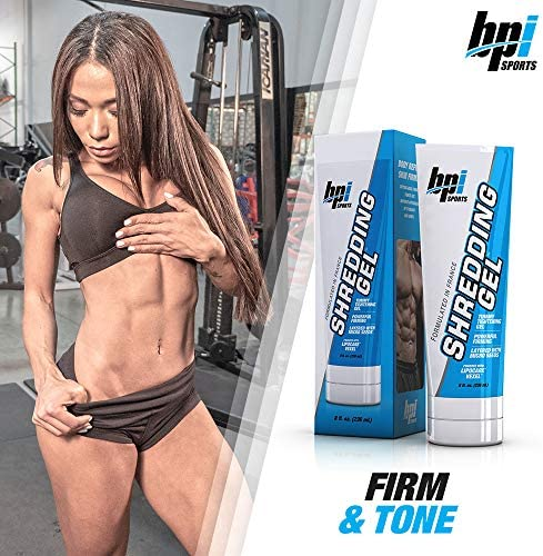 BPI Sports Shredding Gel – Topical Gel – Skin Firming, Toning, Muscle Definition, Reduce Cellulite – Bodybuilding – Clinically Dosed Patented Ingredients – 6 Pack Abs – For Men & Women – 8 fl. oz 4