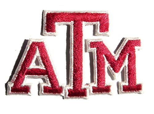 NCAA Texas A&M Aggies Patch University Logo Embroidered Iron On Applique (Ncaa Embroidery Designs compare prices)