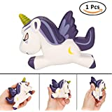 Shellvcase Squishy Unicorn,Slow Rising New Jumbo Purple Moon Unicorn Squishies Stress Relief Cream Scented for Collection Gifts By (Purple Moon)