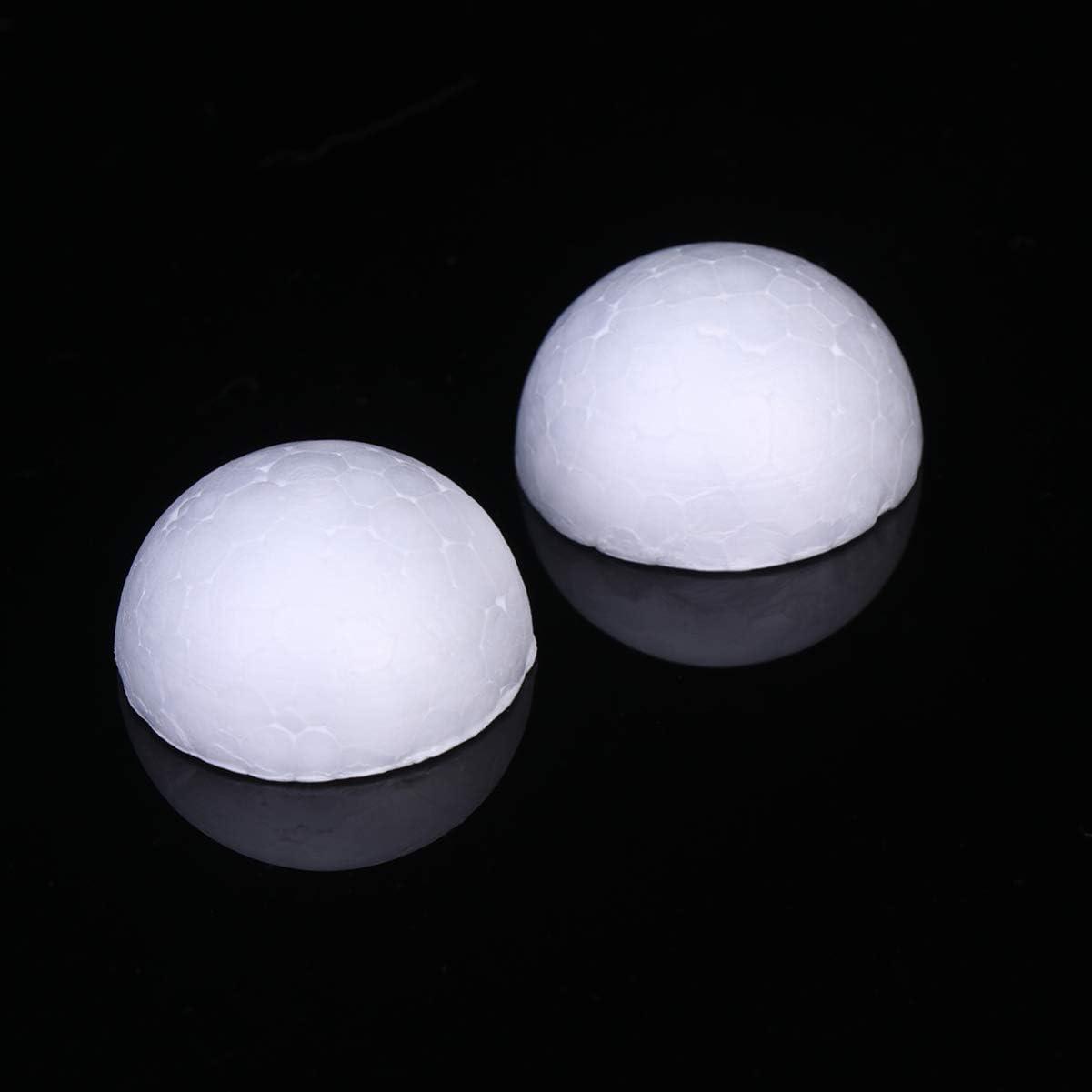 SUPVOX 200 piezas de bolas de espuma de poliestireno de espuma semicircular para bodas manualidades de bricolaje y regalos de fiesta de modelado regalos de 3 cm