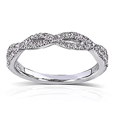 Amazon Com Round Diamond Braided Wedding Band 1 6 Carat Ctw In