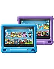 "All-new Fire HD 8 Kids Edition tablet 2-pack, 8"" HD display, 32 GB, Blue/Purple Kid-Proof Case"