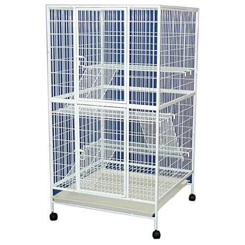 YML 35-Inch 4-Level Small Animal Cage with Wire Bottom Grate