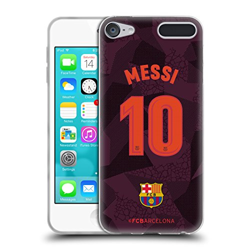 Official FC Barcelona Messi 2017/18 Players Third Kit Group 1 Soft Gel Case for Apple iPod Touch 6G 6th Gen