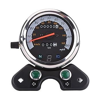 dual tachometer wiring diagram amazon com qiilu universal motorcycle dual speedometer odometer  motorcycle dual speedometer odometer