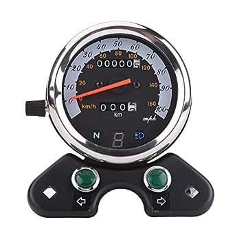 autometer speedometer wiring diagram motorcycle speedometer wiring diagram led amazon.com: qiilu universal motorcycle dual odometer ... #5