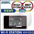 Wi-Fi STATION HW-02G 保護フィルム アスデック 【ノングレアフィルム 3】・映り込み防止・防指紋 ・気泡消失・アンチグレア・日本製 NGB-HW02G (HW-02G , マットフィルム)