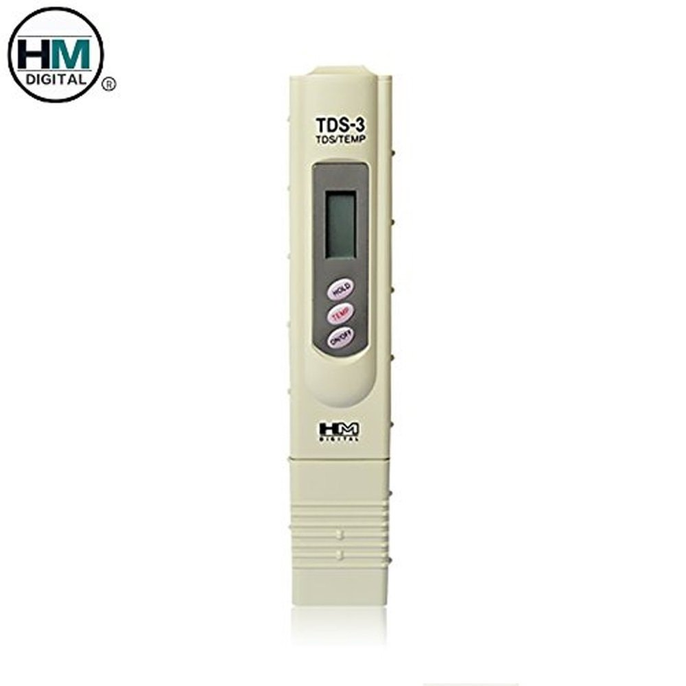 HM DIGITAL TDS Meters TDS-3 Handheld Temperature TDS ( PPM ) Tester, 0 - 9990 ppm, 1 ppm Resolution, +/- 2% Readout Accuracy Testing Water Quality For Hydroponics Aquariums Pools Drinking etc