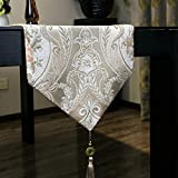 European-style luxury table runner,chenille jacquard table table flag, cloth table flag-B 34x260cm(13x102inch)