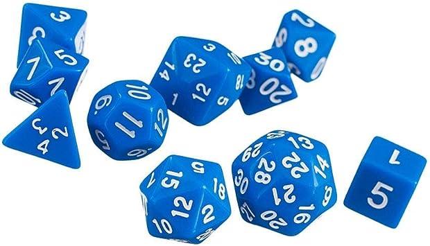 Wilk 10 Piezas Profesional Dados D4-D30 Dados de acrílico Poliédrica Dice para Dungeons and Dragons DND RPG MTG Juegos de Mesa: Amazon.es: Juguetes y juegos