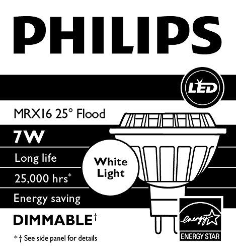 philips 433623 7w high output led mr16 3000k 25 degree flood