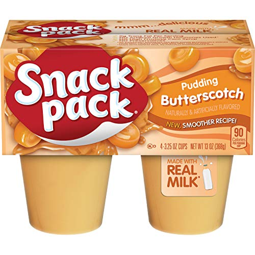 (Snack Pack Butterscotch Pudding Cups, 4 Count, 12 Pack)